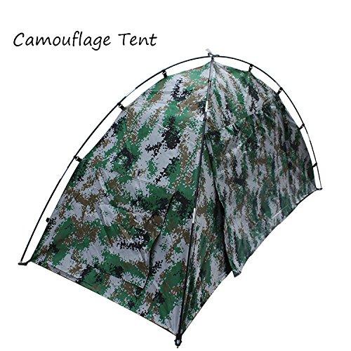 GDSZ Camping Tent Lightweight Waterproof Portable Folding Camouflage Tent Fiberglass Oxford Hiking 1 Person Tent Beach Fishing Hunting by GDSZ
