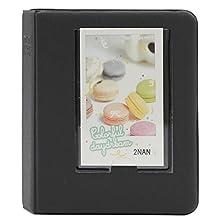 Hamsing 64 Pockets Colorful Mini Book Album for Fujifilm Instax Mini 8 8+ 9 70 7s 90 25 26 50s Films (Black)