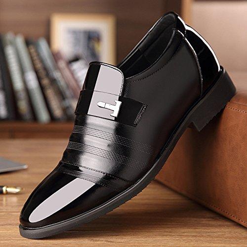 Pelle Scarpe Scarpe Uomo 6CM in Scarpe da da Uomo Aumentate Abiti Pelle Black3cm da in Lavoro Fg7FA