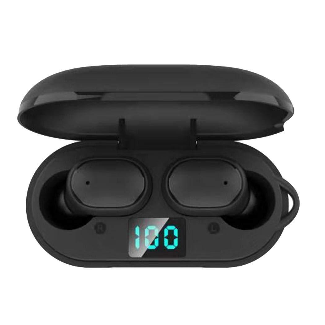 fnemo Inal/ámbrico Bluetooth 5.0 Auricular Mini est/éreo Auriculares Impermeables Pantalla LED Auriculares y Cargadores suplementarios