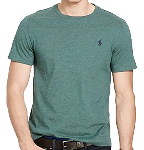 Polo Ralph Lauren Men's Classic Fit CREWNeck T-Shirt Cotton (XL, CHARTER - Lauren Polo Ralph Green