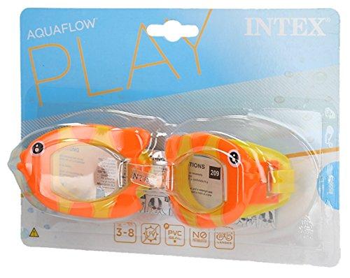 Intex 55603, lunettes fun mixte enfant, jaune, 14.92x 20.32X 3.81