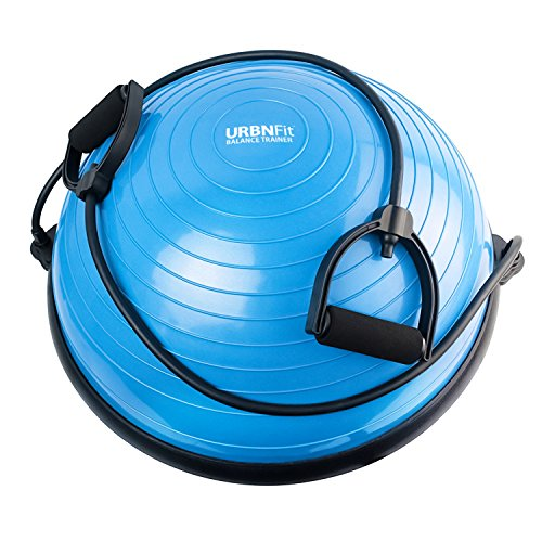 URBNFit Balance Trainer Half Ball - Includes Bands for Resis