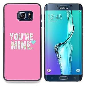 Stuss Case / Funda Carcasa protectora - Texto Love So texto Corazón Novia - Samsung Galaxy S6 Edge Plus / S6 Edge+ G928