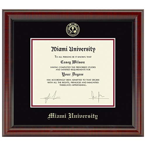 - M. LA HART Miami University Diploma Frame, The Fidelitas
