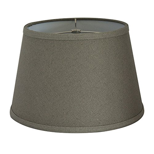 Tootoo Star Fabric Natural Linen Cone Barrel Hand Crafted Gray Lamp Shade Medium Lampshade for Floor Table Lamp,9x12x8 Spider (Cone Floor Shade Lamp)