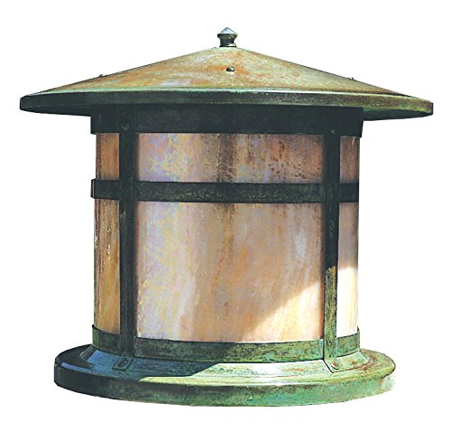 "Arroyo Craftsman BC-11CS-RB Berkeley Column Mount Light Fixture, 11"", Rustic Brown Metal Finish, Clear Seedy Glass"