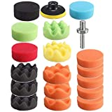 3 Inch Polishing Pad Sponge Buff Set For Car Polisher 80mm (19 PCS)