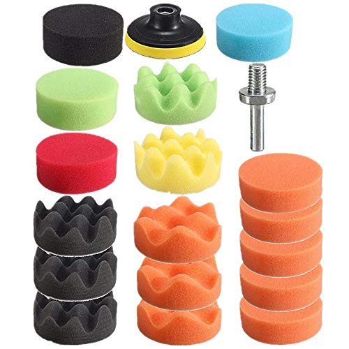 3 Inch Polishing Pad Sponge Buff Set For Car Polisher 80mm (19 PCS) by Blossom Store (Image #4)