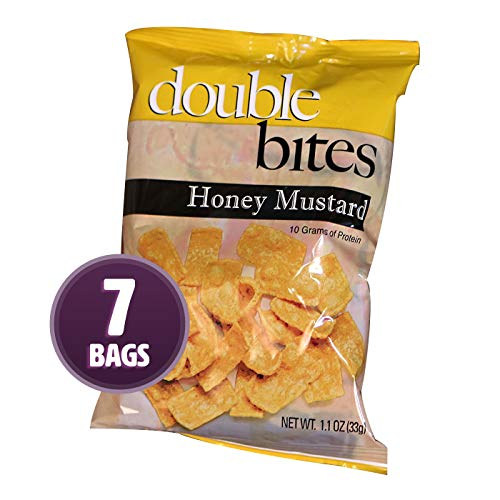(Weight Loss Systems - Honey Mustard Double Bites - High Protein Snack - Low Calorie - Low Fat - Diet Chip - Gluten Free - 7 Bags)
