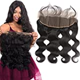 10″ Free Part 13X4 Ear To Ear Full Lace Frontal Closure Body Wave with Baby Hair Lightly Bleached Knots Brazilian Virgin Remy Human Hair Top Frontals Lace Front Closures Natural Color Review