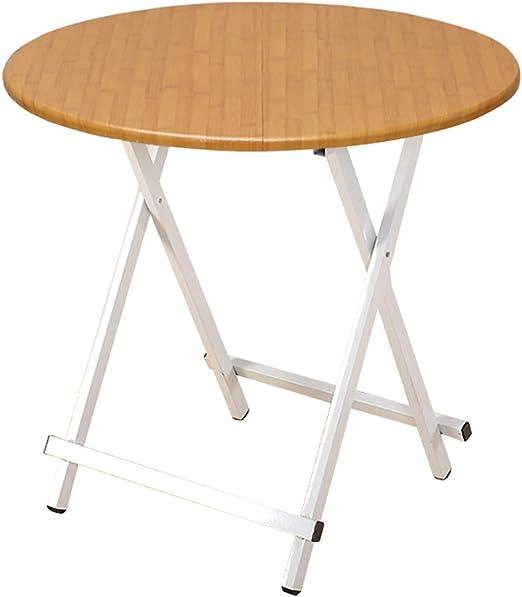 Mesa plegable LXF Muebles De Jardín Plegables Redondos del Comedor del Patio del Jardín del Metal (Tamaño : 70 cm in Diameter): Amazon.es: Hogar