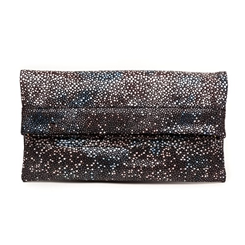 CoFi Leathers Printed Leather Mollie Cross-Body Convertible Clutch in Stingray Print - Stingray Printed Leather