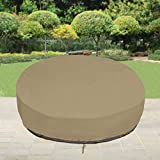SunPatio Outdoor Daybed Cover, Waterproof Round