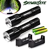 Flashlight,Baomabao 2x6000Lumen Rechargeable Tactical CREE Q5 LED Flashlight +18650 Battery&Charger