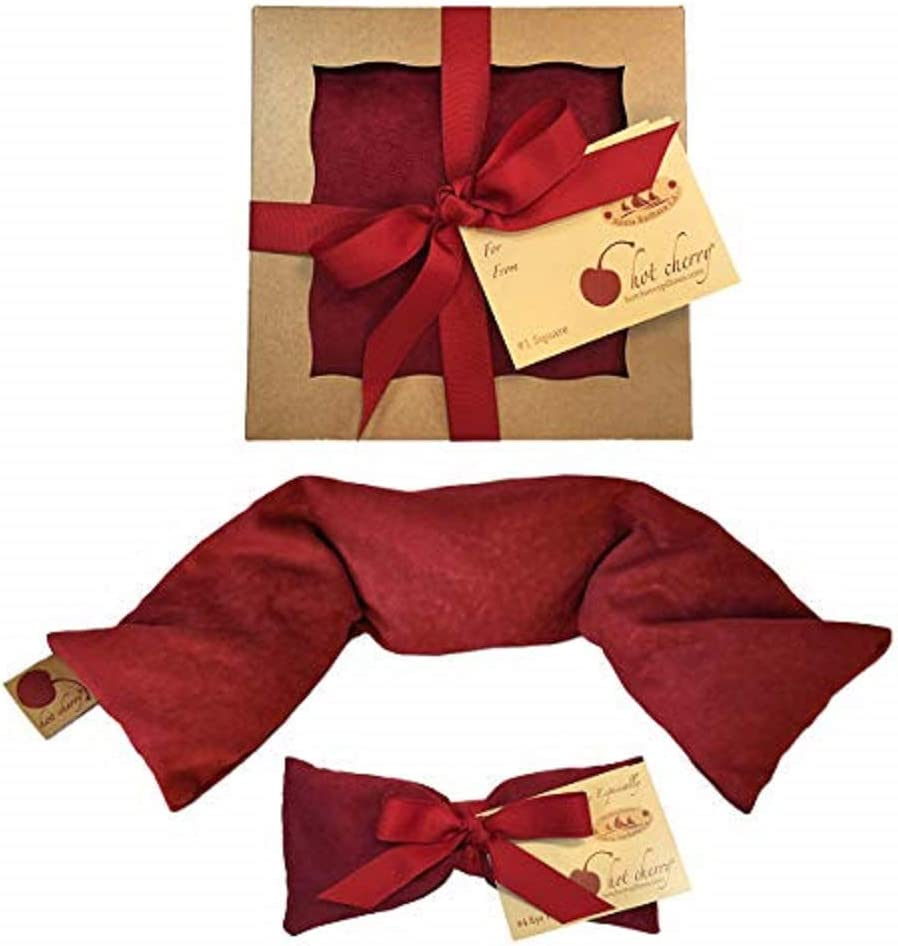 Hot Cherry Pit Pillow Bundle (Discounted Pack - Red Ultrasuede) 20% Off Individually Priced Items
