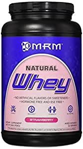 MRM Natural Whey Protein, Strawberry, 2.0 Pound