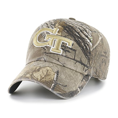 Tech Visor (NCAA Georgia Tech Yellow Jackets Realtree OTS Challenger Adjustable Hat, Realtree Camo, One Size)