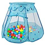 Peradix Children's Play Tent Portable Ball Game House Gifts for 1-8 Years Old Children Indoor and Outdoor Blue (Not Included Balls)