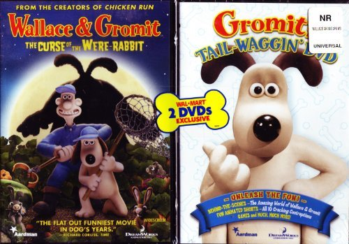 Wallace & Gromit the Curse of the Were-rabbit Walmart Exclusive Bonus Disc Gromit Tail-waggin Dvd