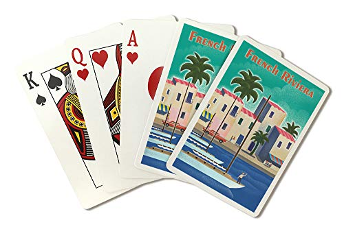French Riviera - Lithograph (Playing Card Deck - 52 Card Poker Size with Jokers)