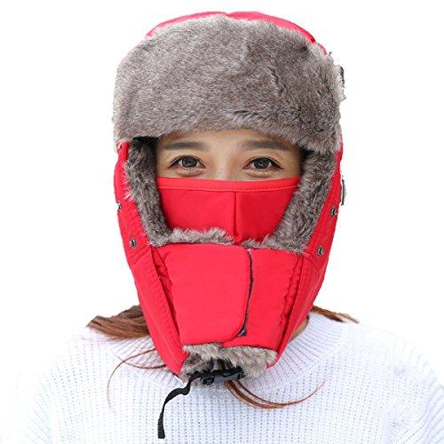 Viento RoseRed Hombre Cazadora De De Caliente De De Mantener Para Gorro Nieve Orejera Soldado De Máscara Mientras Esquí Prueba Invierno A Unisex Mujer La Bombardero Gorro Para Caza Trampero Caliente wZqnCI