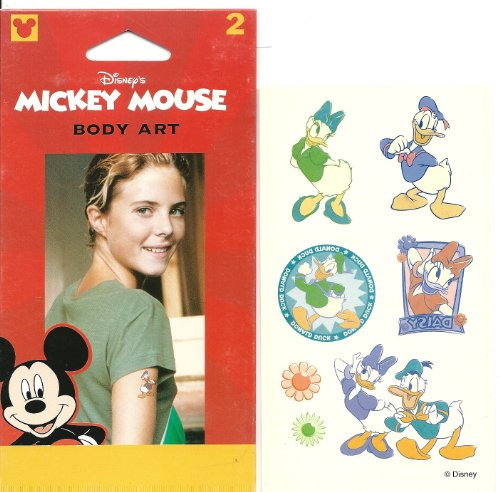 [Disney Donald and Daisy Duck Legend Body Art Temporary Tattoo] (Donald Duck Costume Makeup)