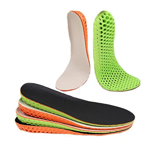 Ewandastore 1.5cm 0.59'' Height Increase Insole Invisible Increased Heel Shoe Lifts Inserts Elevator Shoe Pads Insoles for Men,Orange Black by Ewandastore (Image #2)