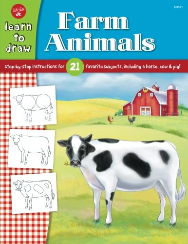 Learn to Draw Farm Animals: Step-by-step instructions for 21 favorite subjects, including a horse, cow & pig! - Ostrich Farm