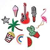 10pcs Mixed Applique Embroidery Patch Sticker Iron On Sew Cloth Patch