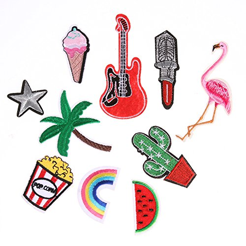 10pcs Mixed Applique Embroidery Patch Sticker Iron On Sew Cloth Patch by Single Mom