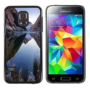 Smartphone Rígido Protección única Imagen Carcasa Funda Tapa Skin Case Para Samsung Galaxy S5 Mini, SM-G800, NOT S5 REGULAR! Nature Mountain Lake / STRONG
