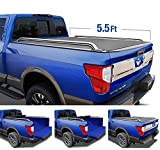 Tyger Auto T2 Low Profile Roll-Up Truck Tonneau Cover TG-BC2N2081 Works with 2004-2015 Nissan Titan   Fleetside 5.5' Bed   for Models Without The Utili-Track System