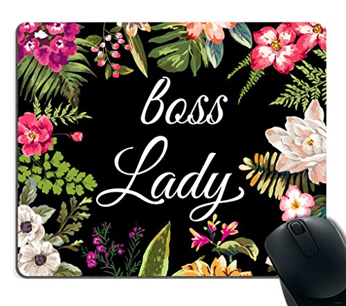 Mouse Gift - Smooffly Gaming Mouse Pad Custom,Boss Lady Mouse Pad - Floral Boss Lady Funny Mouse Pad