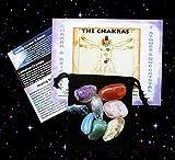 Chakra Kit 7 Healing Stones Lemurian Seed Crystal Color Chakra Chart +