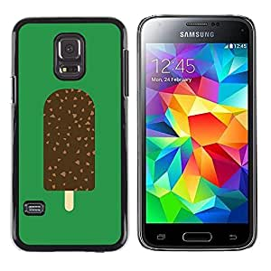 A-type Colorful Printed Hard Protective Back Case Cover Shell Skin for Samsung Galaxy S5 Mini / Samsung Galaxy S5 Mini Duos / SM-G800 !!!NOT S5 REGULAR! ( Ice Cream Green Chocolate Sweet )