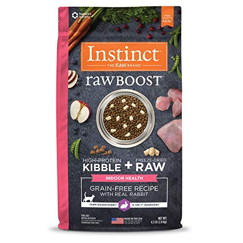Instinct Raw Boost Indoor Health Grain Free Recipe with Real Rabbit Natural Dry Cat Food by Nature's Variety, 4.5 lb. Bag