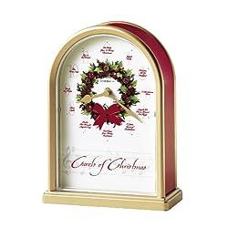 Howard Miller 645-424 Carols of Christmas II Table Clock by
