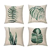 "Ogisele Leaf Theme Decorative Throw Pillow Case 18""x18"" Set of 4(Plants)"