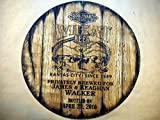 Boulevard Wheat Beer Personalized decorative Sign - barrel top | Handpainted artwork and your message on a distressed wood sign | Rustic wall decor