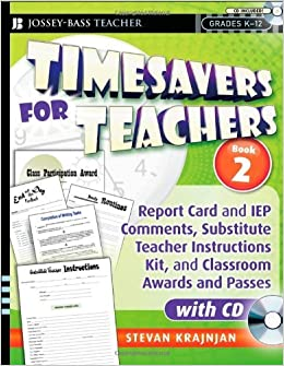 Book By Stevan Krajnjan - Timesavers for Teachers, Book 2: Report Card and IEP Comments, Su (2009-04-07)