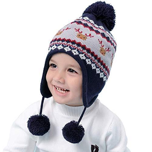 7a3bdd39d XIAXIACP Gorro De Punto para Niños Otoño E Invierno Más Gorras De Orejeras  Acolchadas De Terciopelo para Niños Y Niñas