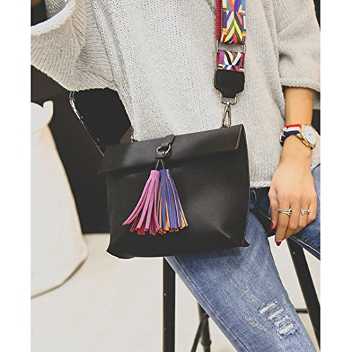 Straps Bag Hobo Shoulder Women's Heidi Casual Bag Black with Handbags Crossbody Satchel Colorful FxSPdq