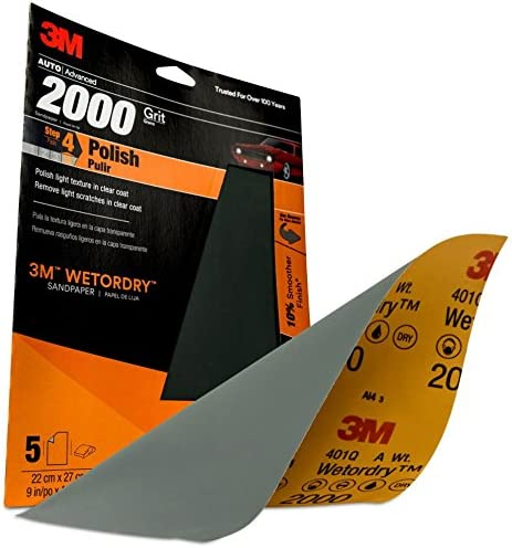"Best Price Vermont Tool Co 3M 32044 Imperial Wetordry 9/"" x 11/"" 2000 Grit Sheet"