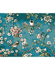 [Framless] DIY Oil Painting Paint by Numbers Kits for Adult Kids-Like Birds in The Branches 16X20 inch