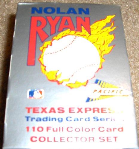 2 Collector Card Set (1991 Nolan Ryan Texas Express Trading Card Series 110 Full Color Card Collector Set)