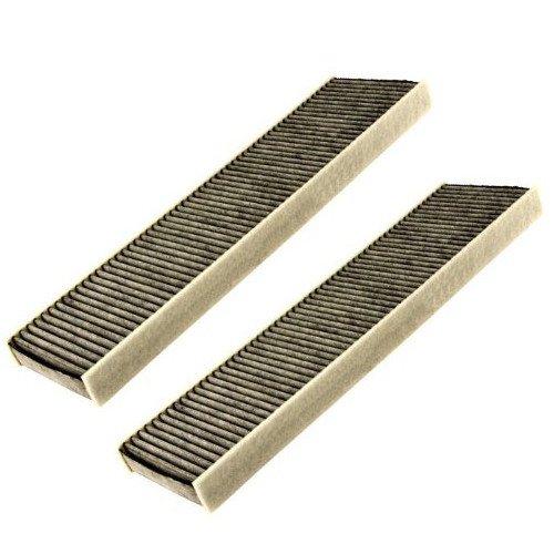HQRP 2-pack Cabin Air Filter for MINI Cooper Clubman 2008 / 2009 / 2010 / 2011 / 2012 Activated Charcoal Microfilter plus HQRP UV Meter
