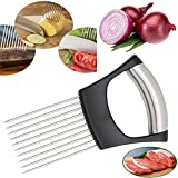 Hulless Stainless steel Onion Holder for Slicing, Vegetable...
