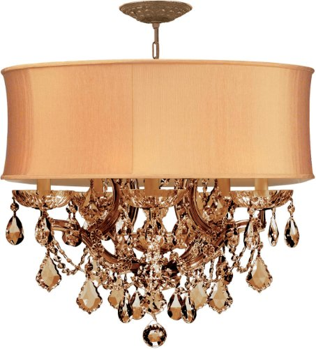 Crystorama 4415-AB-SHG-GT-MWP, Brentwood Crystal Chandelier Lighting, 7 Light, 420 Watts, ()