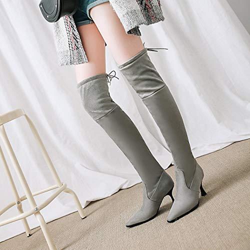 wetkiss Stivali SA076 Stivali Gray wetkiss wetkiss Stivali Gray Donna Donna SA076 SA076 w01Fgg